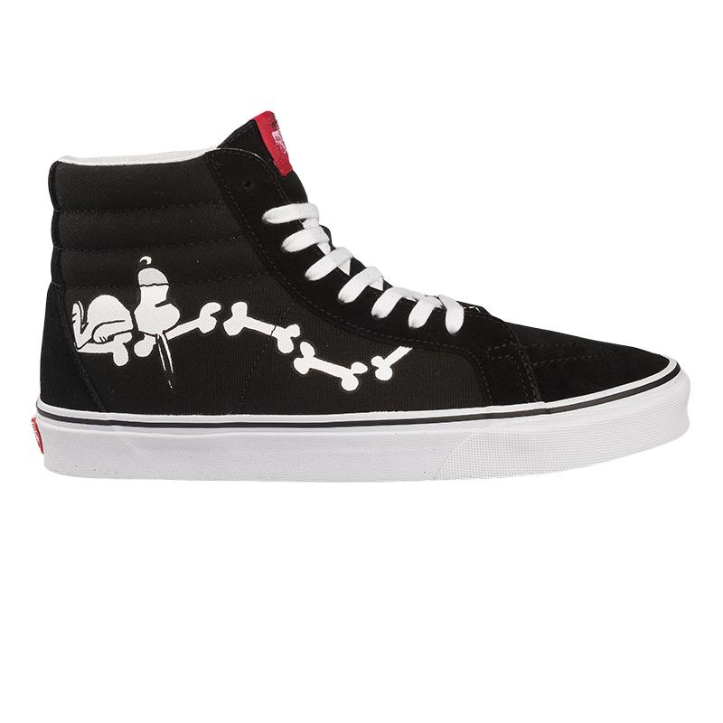 Vans X Peanuts Sk8-Hi Reissue Snoopy Bones Black/White