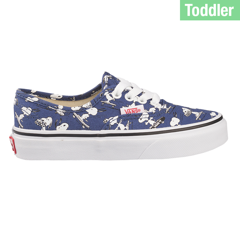 Vans X Peanuts Toddler Authentic Snoopy Skating Blue