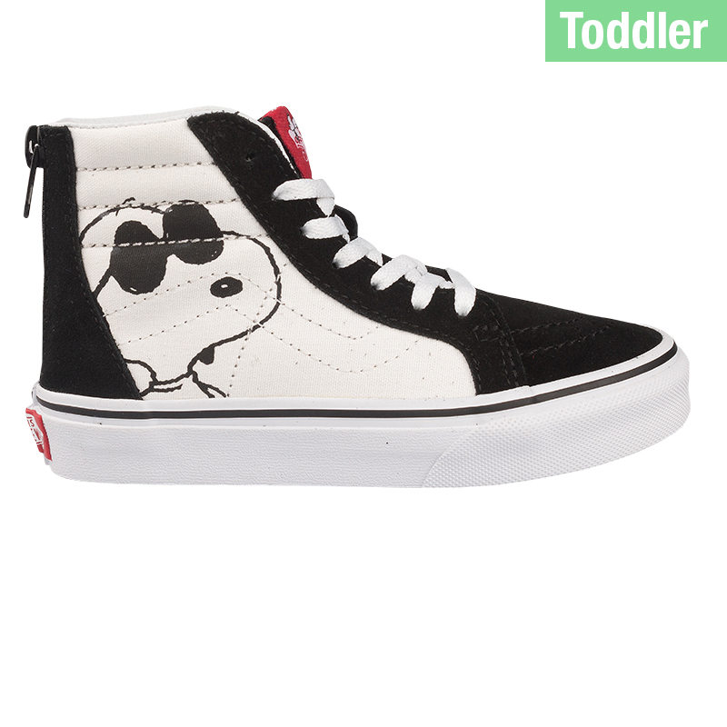 Vans X Peanuts Toddler Sk8-Hi Zip Joe Cool Black/White
