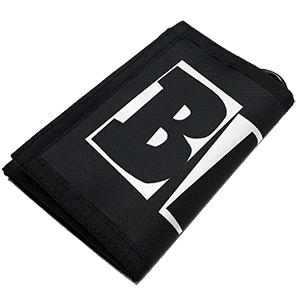 Baker Brand Logo Tri-Fold Wallet Black