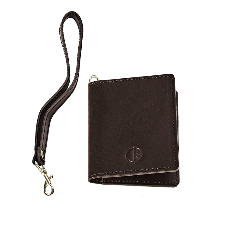 Polar Card Holder Wallet Brown Leather