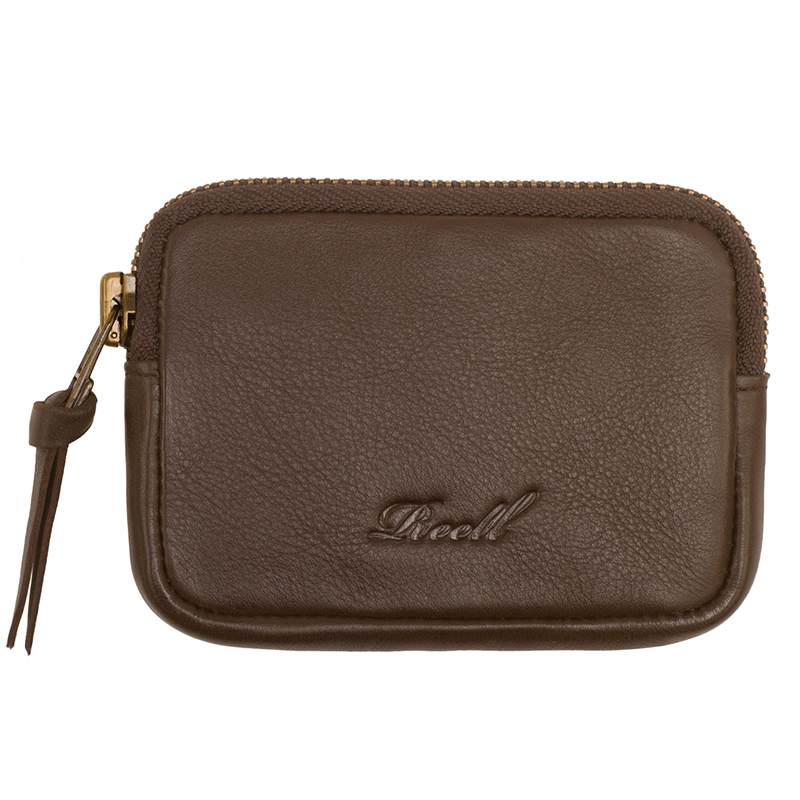 Reell Pouch Leather Wallet Brown