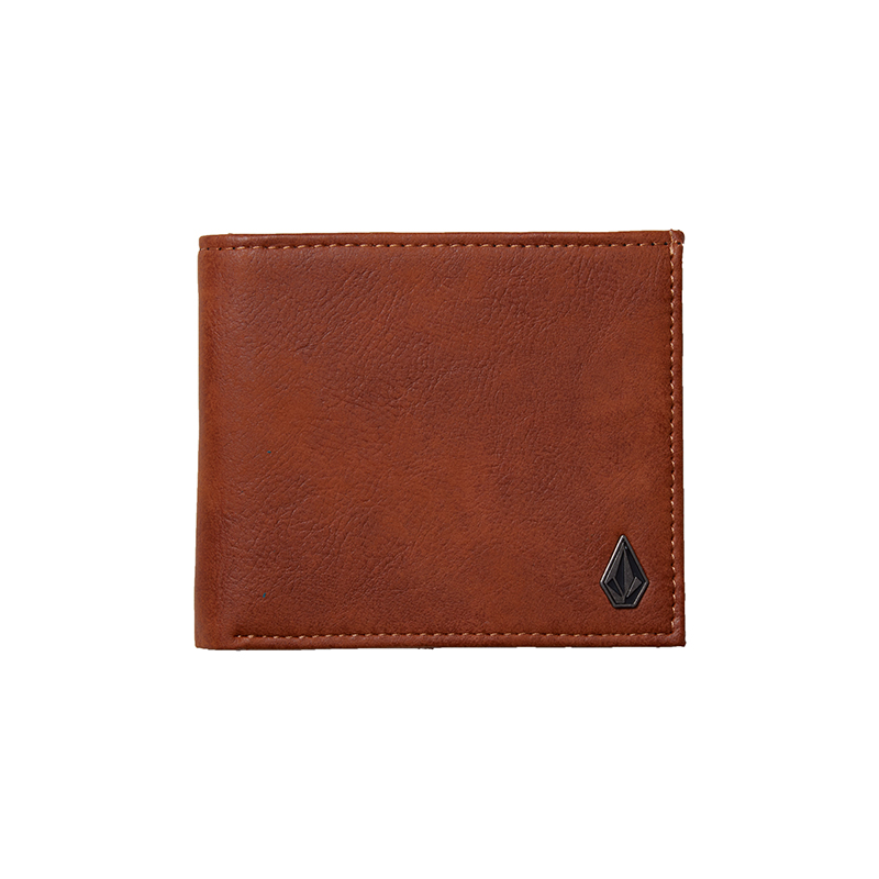 Volcom Slim Stone PU Leather Large Wallet Hazelnut