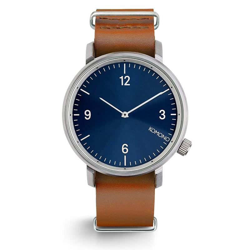 Komono Magnus Watch Blue Cognac II