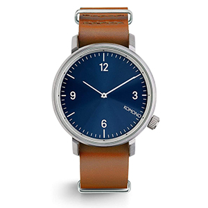 Komono Magnus Watch Blue Cognac II
