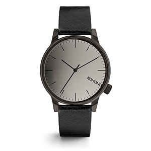 Komono Winston Mirror Watch Black/Black