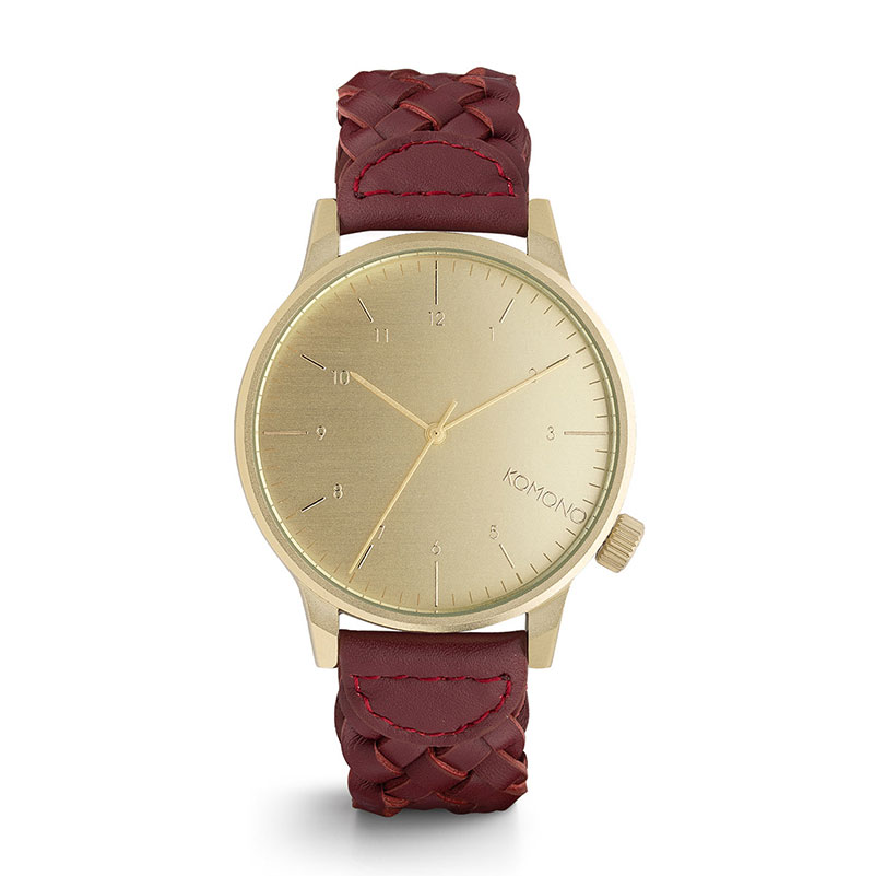 Komono Winston Watch Burgundy