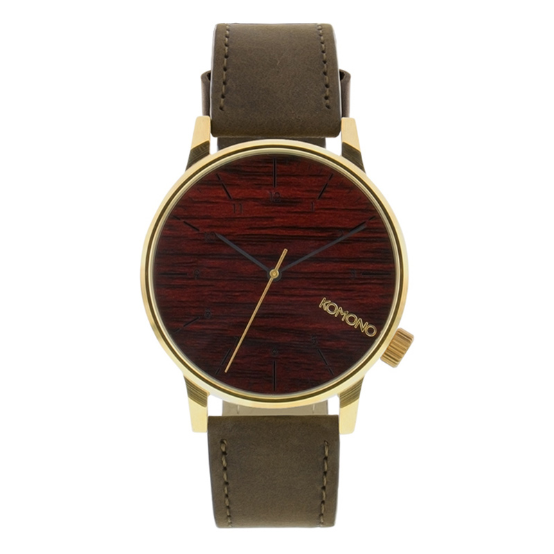 Komono Winston Watch Gold Wood