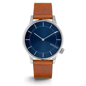 Komono Winston Watch Regal Blue Cognac