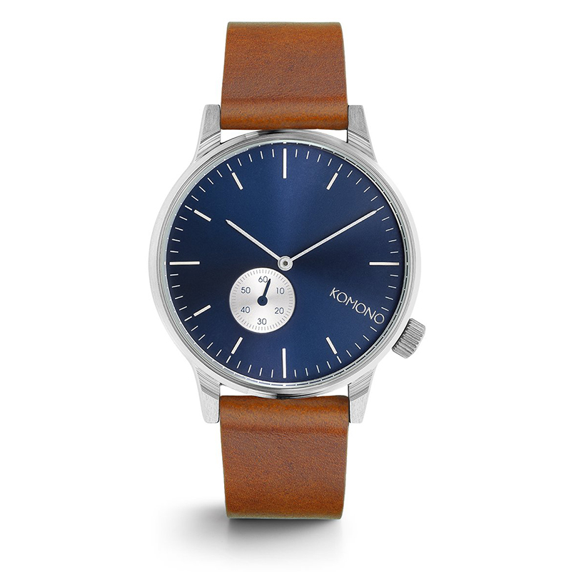 Komono Winston Watch Sub Blue Cognac