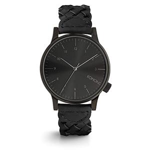 Komono Winston Watch Woven All Black
