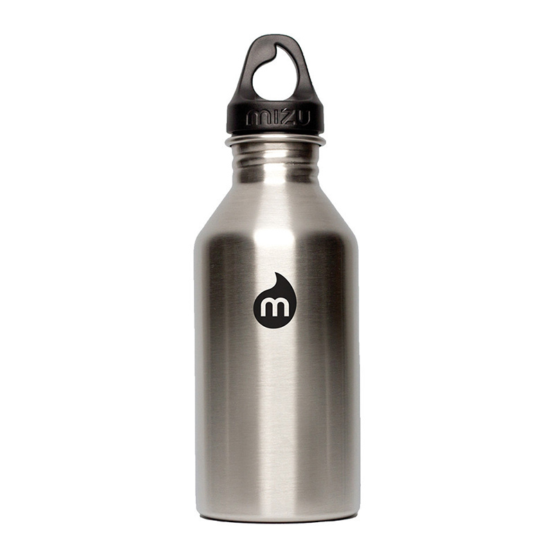 Mizu Waterbottle M6 Stainless Black Print