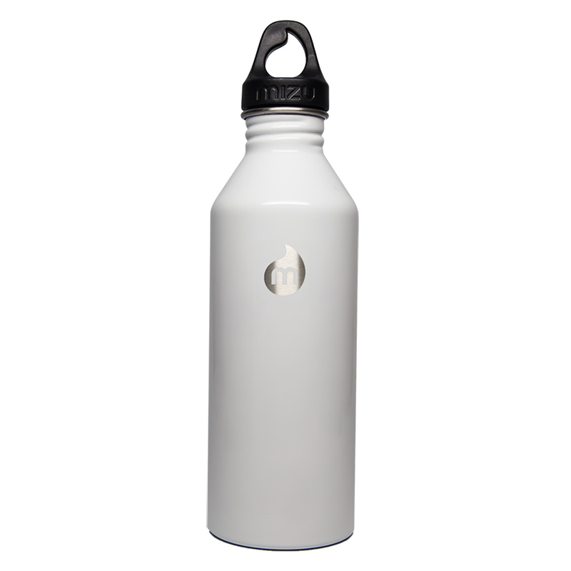 Mizu Waterbottle M8 Glossy White/Black