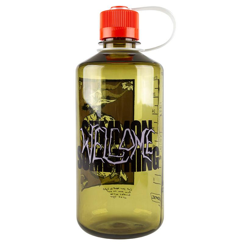 Welcome Krampus Nalgene Bottle Narrow Mouth Olive