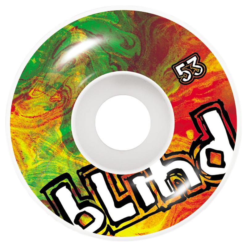 Blind Trippy OG Wheel White/Rasta 53mm