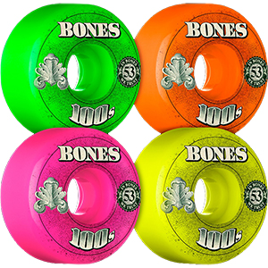 Bones 100's $ Wheels Party Pack V4 100A 53mm