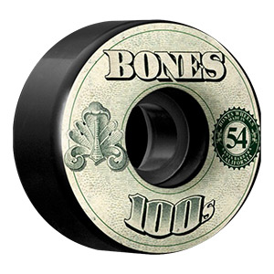 Bones 100's $ Wheels V4 Black 100A 54mm