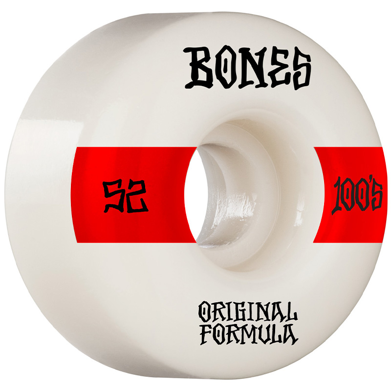 Bones 100's 14 V4 Wide Wheels 100a White 52mm
