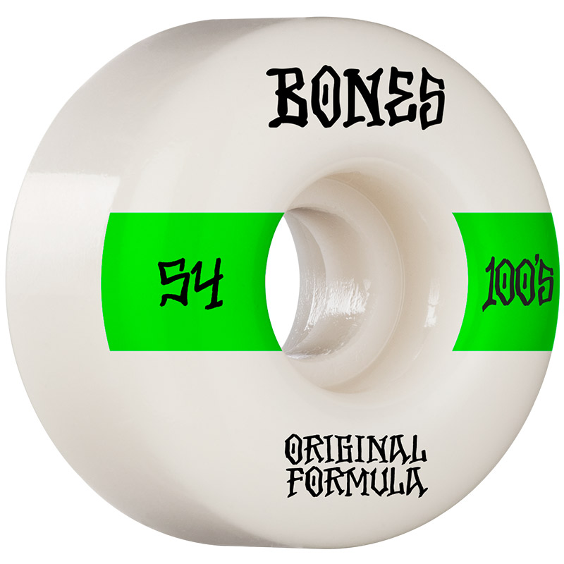 Bones 100's 14 V4 Wide Wheels 100a White 54mm