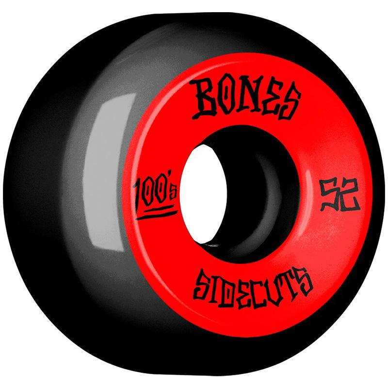 Bones 100's #2 Sidecuts Wheels V5 Black 52mm