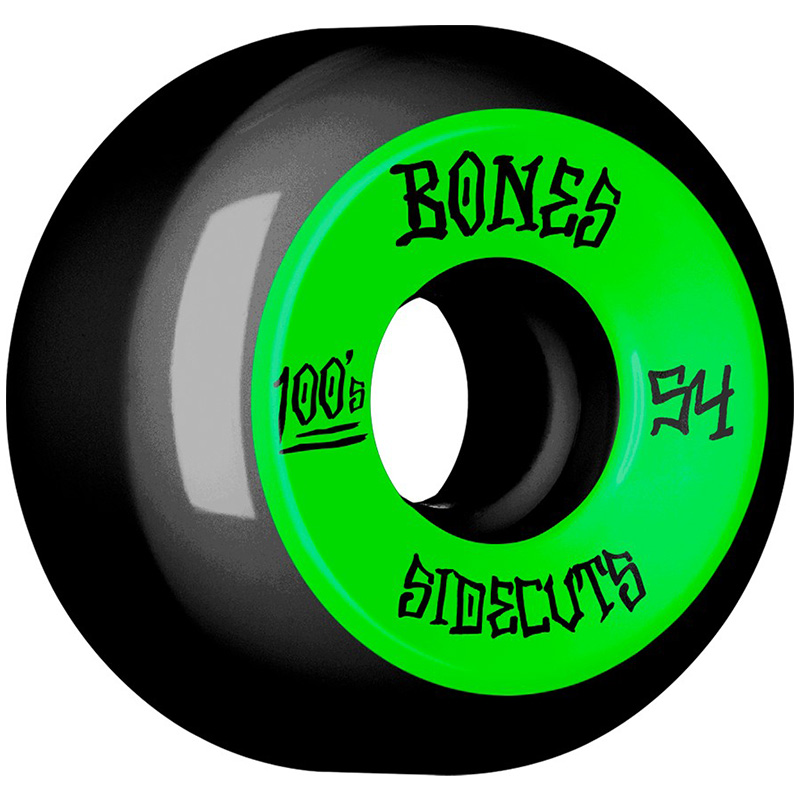 Bones 100's #2 Sidecuts Wheels V5 Black 54mm