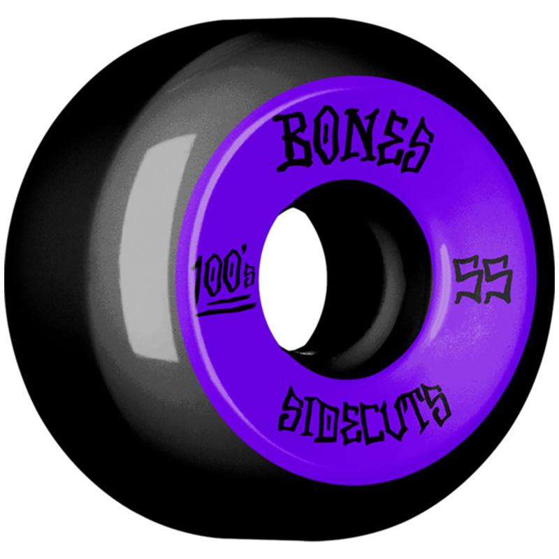 Bones 100's #2 Sidecuts Wheels V5 Black 55mm