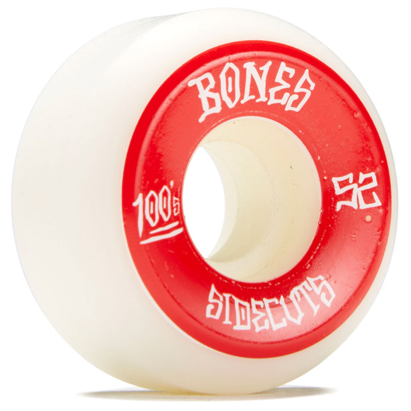 Bones 100's 2 Sidecuts Wheels V5 White 52mm