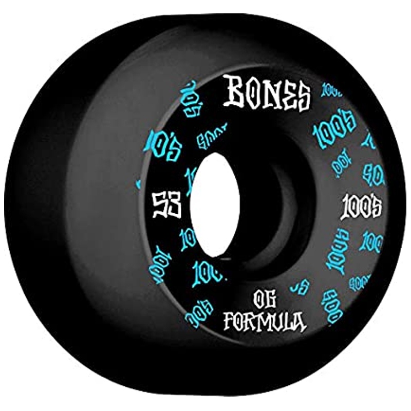 Bones 100's 3 Sidecut Wheels Black 100A 53mm