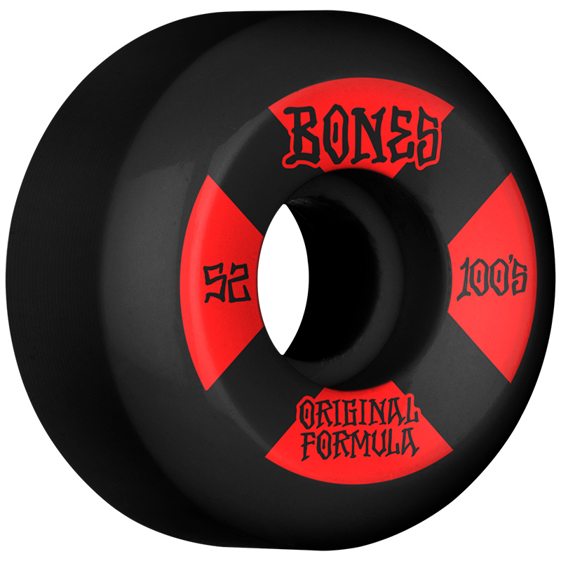 Bones 100's #4 V5 Sidecut Wheels 100a Black 52mm