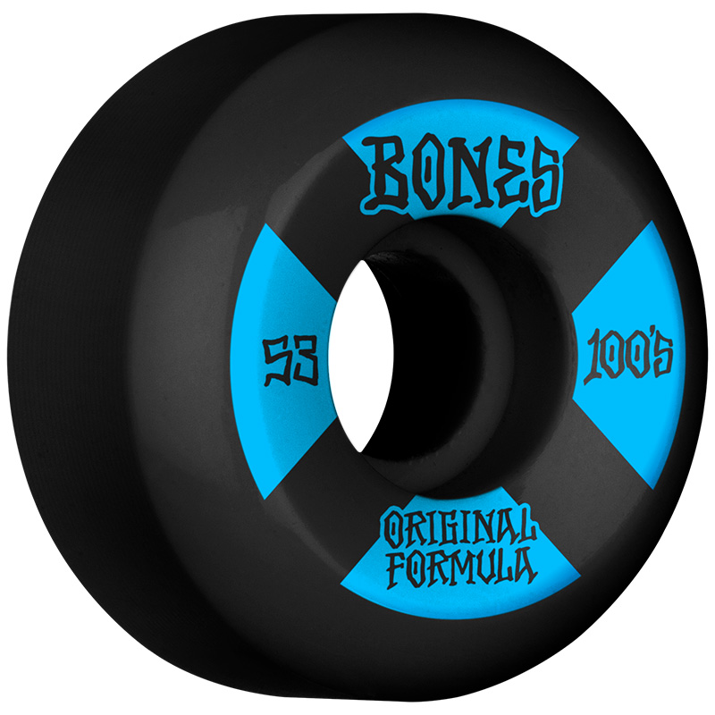 Bones 100's #4 V5 Sidecut Wheels 100a Black 53mm