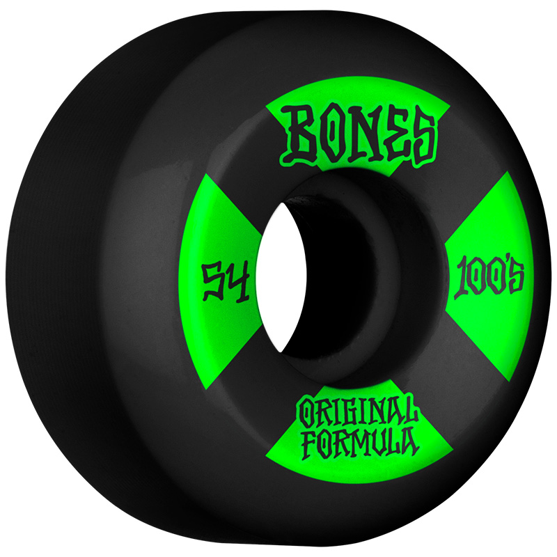 Bones 100's #4 V5 Sidecut Wheels 100a Black 54mm