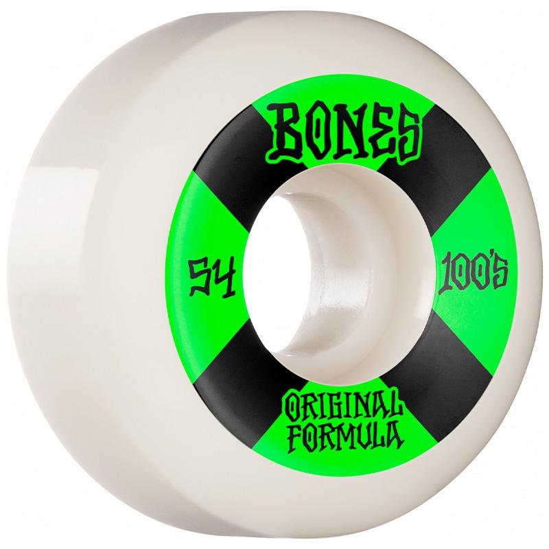 Bones 100's 4 V5 Sidecut Wheels 100a White 54mm
