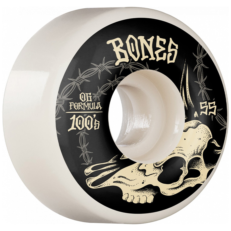 Bones 100's Desert Skull Wide Wheels 100A 55mm