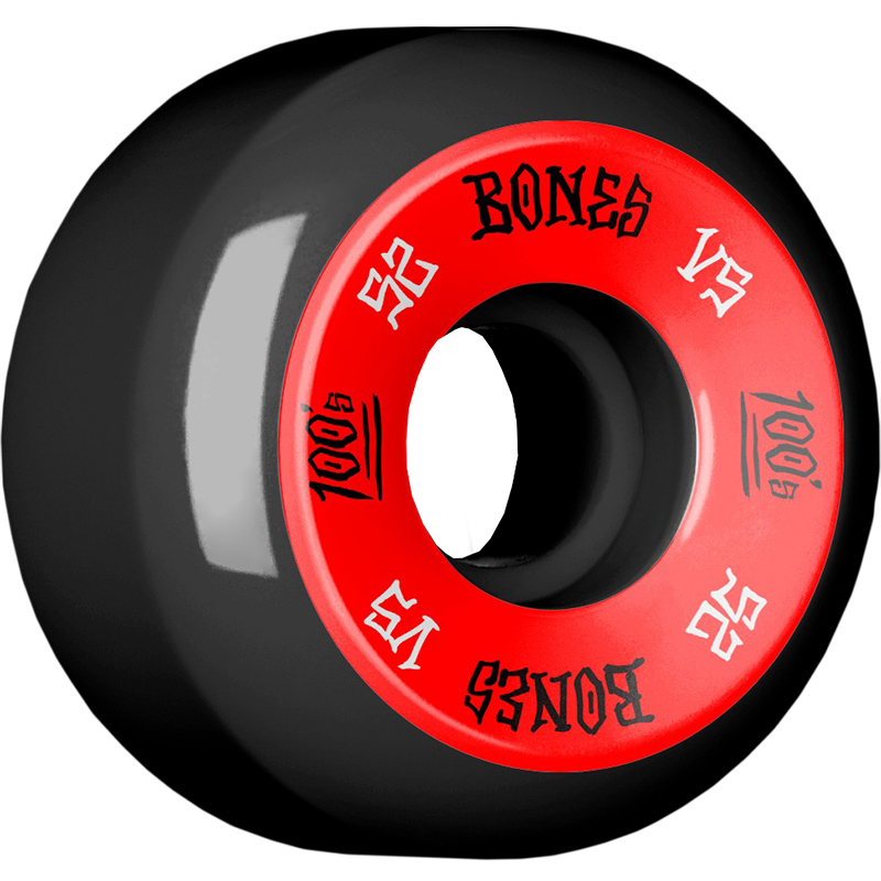 Bones 100's Wheels Black V5 100A 52mm