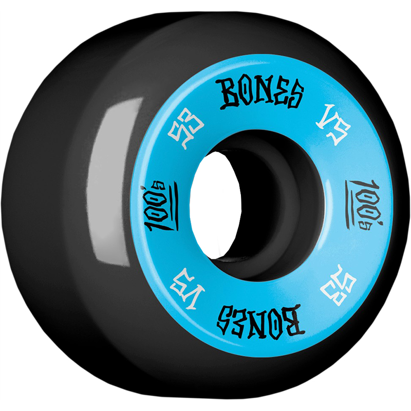 Bones 100's Wheels Black V5 100A 53mm
