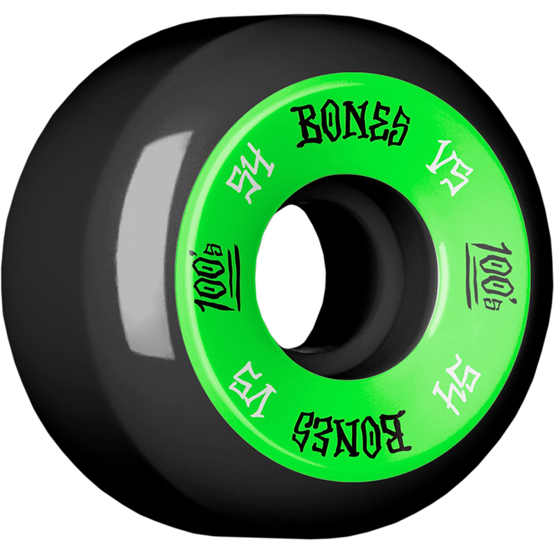 Bones 100's Wheels Black V5 100A 54mm
