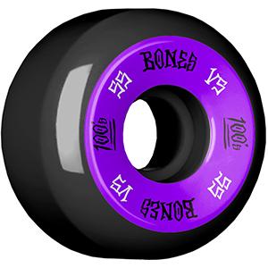 Bones 100's Wheels Black V5 100A 55mm