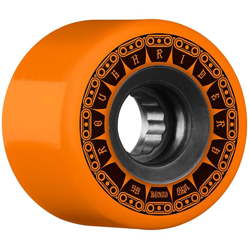 Bones ATF Rough Riders Tank Wheels Orange 80A 59mm