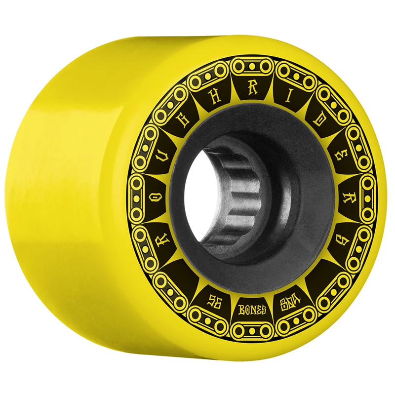 Bones ATF Rough Riders Tank Wheels Yellow 80A 56mm
