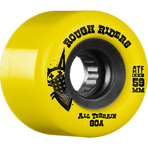 Bones ATF Rough Riders Wheels Yellow 80A 59mm