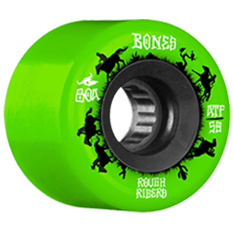 Bones ATF Rough Riders Wranglers Wheels Green 80A 59mm