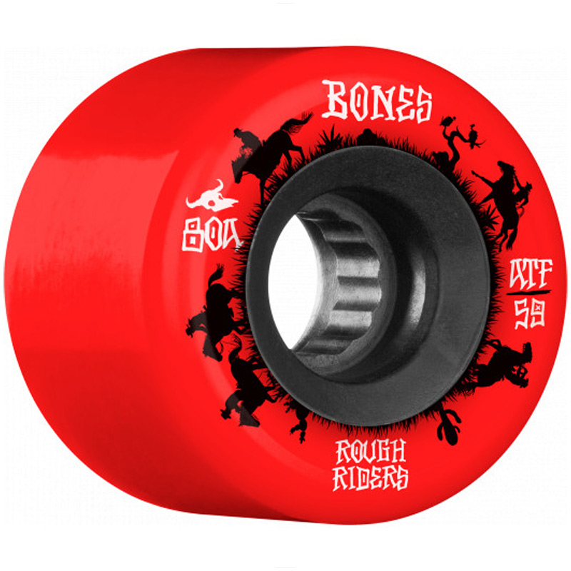 Bones ATF Rough Riders Wranglers Wheels Red 80A 59mm