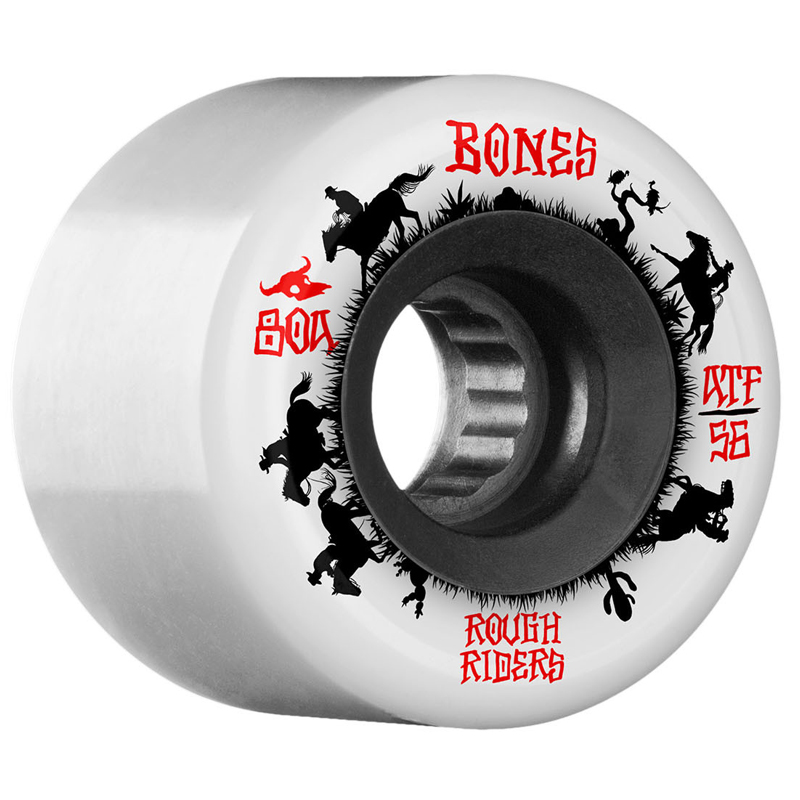 Bones ATF Rough Riders Wranglers Wheels White 80A 56mm