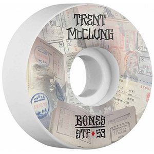 Bones McClung Passport Wheels V1 White 83B 53mm