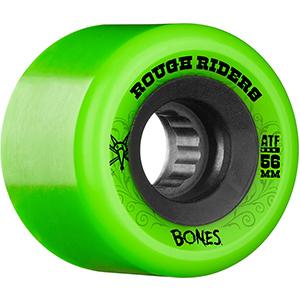 Bones ATF Rough Riders Wheels Green 80A 56mm