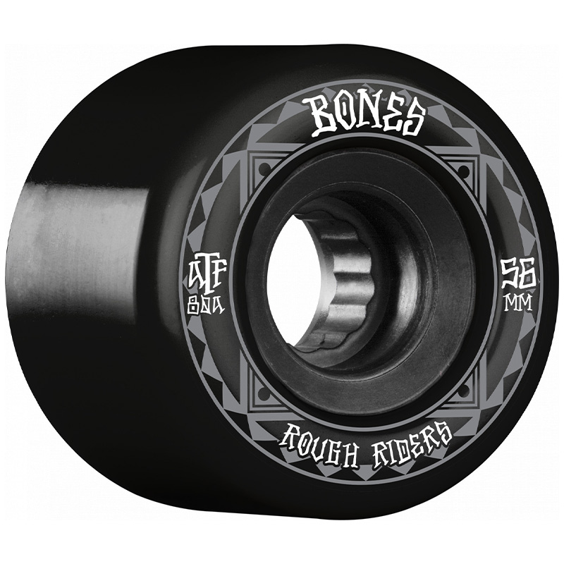 Bones Rough Riders Runners Wheels 80a Black 56mm