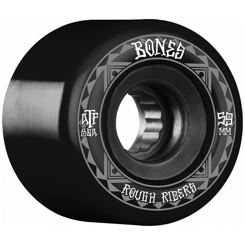 Bones Rough Riders Runners Wheels 80a Black 59mm