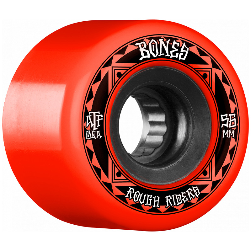 Bones Rough Riders Runners Wheels 80a Red 56mm