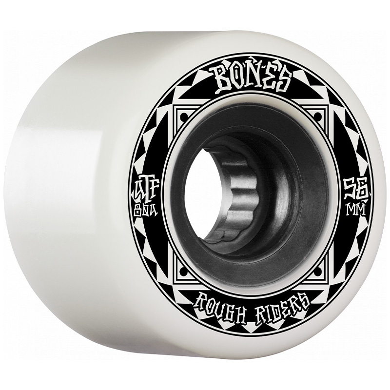Bones Rough Riders Runners Wheels 80a White 56mm