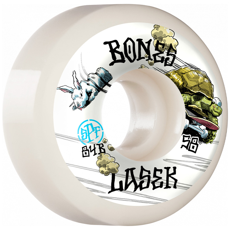 Bones SPF  Lasek Tortoise & Hare Sidecut Wheels P5 104A 58mm